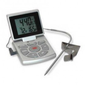 CDN Digital probe thermometer -10 to 200 degrees C with timer and clock