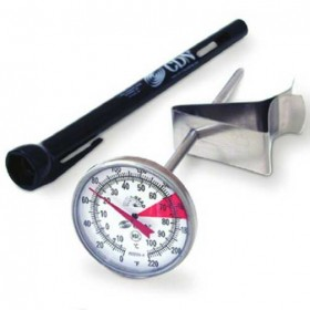 CDN ProAccurate instant read beverage and frothing thermometer. -18 to +104 degrees C 12.7 cm stem