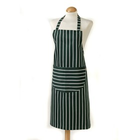 Belle - Kitchen textiles - butchers stripe standard kitchen apron 68 x 87 cm green