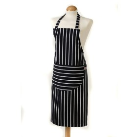 Belle - Kitchen textiles - butchers stripe standard kitchen apron 68 x 87 cm navy