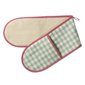 Belle - Kitchen textiles - double oven glove molly check sage