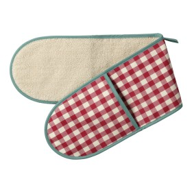 Belle - Kitchen textiles - double oven glove molly check scarlet