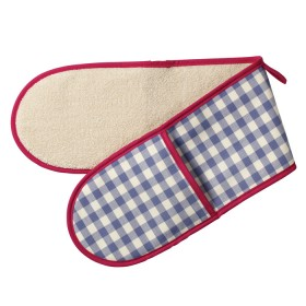 Belle - Kitchen textiles - double oven glove molly check sapphire