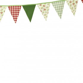 Belle - Kitchen textiles - 5m bunting strip vintage rose