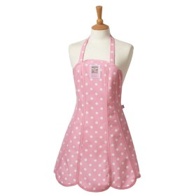 Belle - Kitchen textiles - cakeshop pannelled kitchen apron / pink spot
