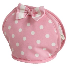 Belle - Kitchen textiles - cakeshop spot bow tea cosy
