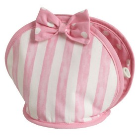 Belle - Kitchen textiles - cakeshop stripe bow tea cosy