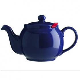 Chatsford Blue 6 cup stoneware teapot with red filter