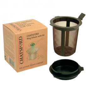 Chatsford brown mug infuser with lid