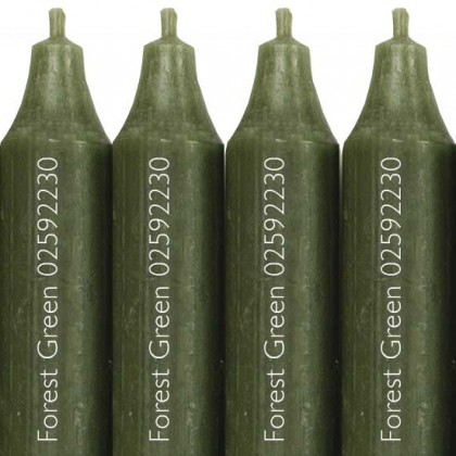 12 Cidex Candles Forest Green 30 x 22 cm. Burn time approx 12 hours. from dowricks.com