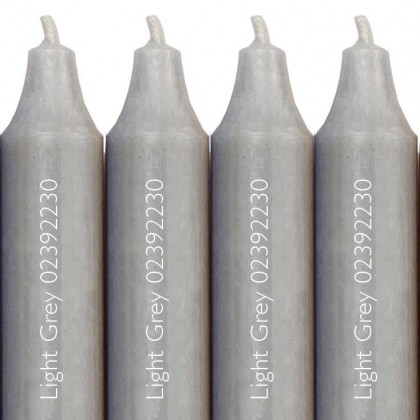 12 Cidex Candles Light Grey 30 x 22 cm. Burn time approx 12 hours. from dowricks.com
