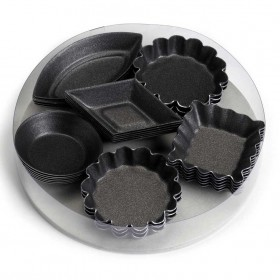 Gobel Bakeware - set 30 non-stick petit fours moulds 6 x 5 styles