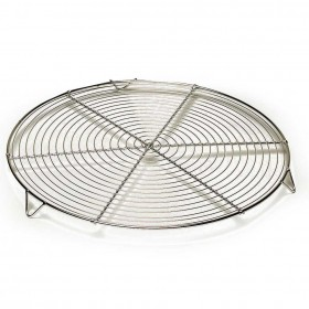 Gobel Bakeware - 280mm round metal cooling rack with feet