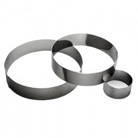 Gobel Bakeware - 80mm stainless steel round mousse ring height 45mm
