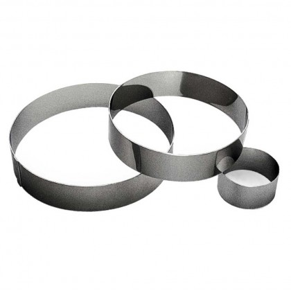 Gobel Bakeware - 100mm stainless steel round mousse ring height 45mm from dowricks.com