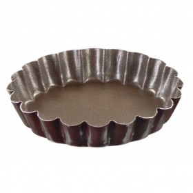 Gobel Bakeware - 60mm non-stick round fluted tart mould fixed base