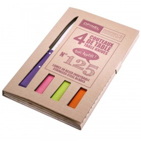 Opinel -  Bon Appetit Table Knives set of 4 Number 125 - Various Colours.