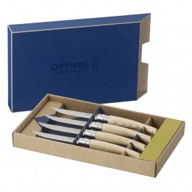 Opinel -  Ash wood box set of 4 table chic knives