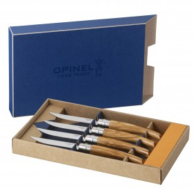 Opinel -  Olive wood box set of 4 table chic knives