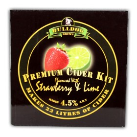Bulldog Brew Perfect Strawberry and Lime Flavoured Cider