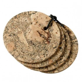 Viking Cork Woodware - round coasters iceberg set of 4 9 cm