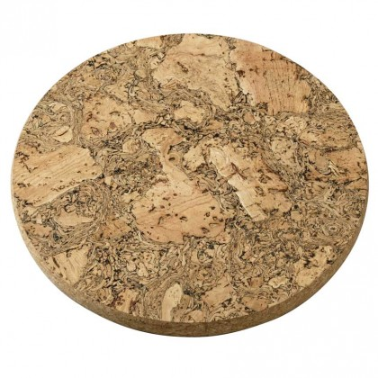 Viking Cork Woodware - round thick trivet 25 cm from dowricks.com