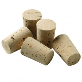 Viking Cork Woodware - set 5 small conical corks