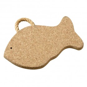 Viking Cork Woodware - trivet with rope big fish