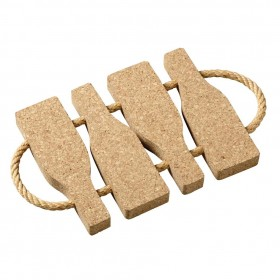 Viking Cork Woodware - trivet with rope bottles