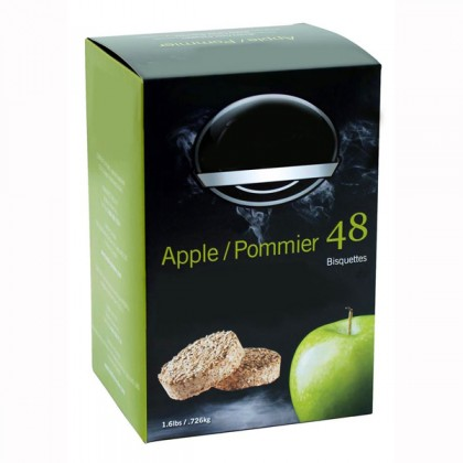 Apple sawdust puck for electric smoker pack of 48 from dowricks.com