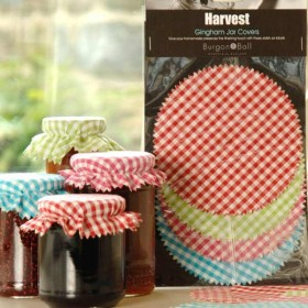 Burgon and Ball gingham jar covers - pack of 12