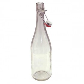 Clear swing top bottles - 750ml - each