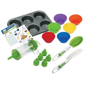 Crisp tools for healthy eating - 16 piece cupcake & decorating kit curious chef