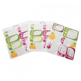 Kilner pack of 24 fruit blossom labels