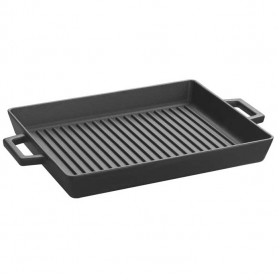 Lava cast iron kitchenware - 26 x 32 cm grill pan with integral handles