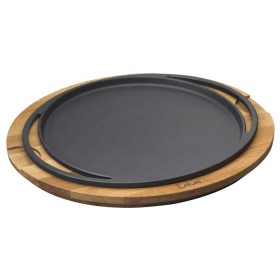 Lava cast iron kitchenware - 28 cm round platter & board
