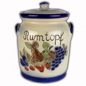 Rumtopf 3 litre fruit decoration saltglazed