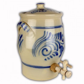 Vinegar pot blue grey salt glazed 3 litres