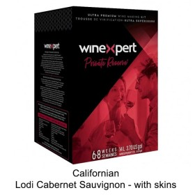 Winexpert  - Private reserve - Californian Lodi Cabernet Sauvignon - with grape skins (Winemaking Kit)