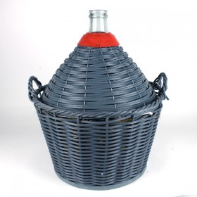 17 litre Demijohn / carboy with basket Narrow Mouth
