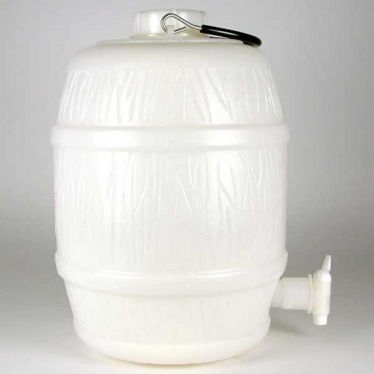 2 Gallon Basic White Plastic Barrel With pressure release only from dowricks.com