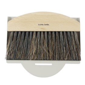 dustpan and brush natural / grey