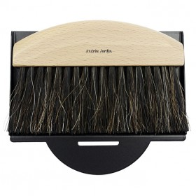 dustpan and brush natural / black