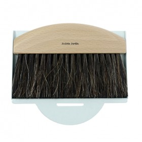 dustpan and brush natural / light blue