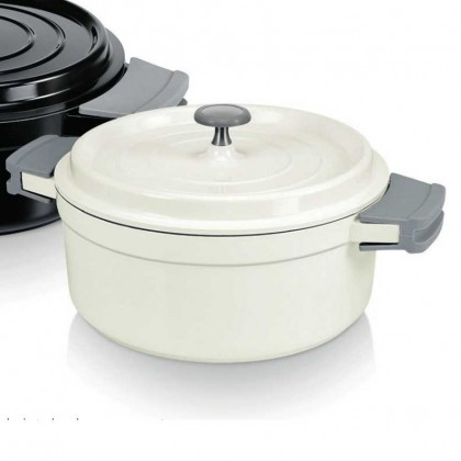 Beka casserole and lid 24 cm / 4.2 litre ivory from dowricks.com