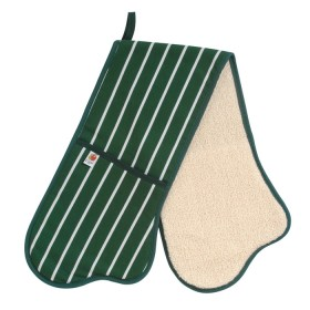 Belle - Kitchen textiles - butchers stripe double oven glove 91 cm green