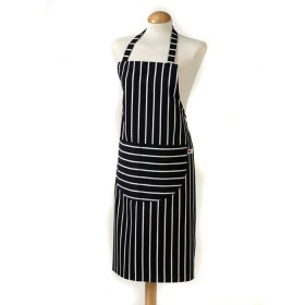 Belle - Kitchen textiles - butchers stripe kids kitchen apron navy