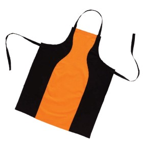 Belle - Kitchen textiles - Black and Orange kitchen apron - Size 8