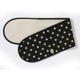 Belle - Kitchen textiles - double oven glove simone black / pebble spot