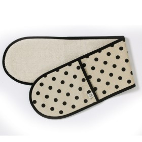 Belle - Kitchen textiles - double oven glove sophia pebble / black spot
